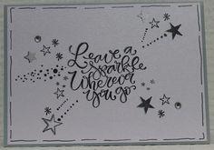 Gemaakt door Joke # stempels Karin Joan - Leave a sparkle wherever you go