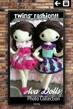 my crochet dolls : Twins' Fashion!