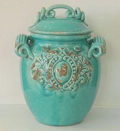 Italian ceramic jar - for the kitchen - to put in biscotti