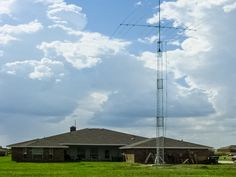 US Tower Ham Radio Towers Lattice style tower Ham Radio Antenna, Good Communication, Towers, Cn Tower, Wind Turbine, Army, Electronics, Tv, Building