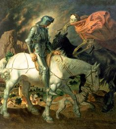 """""""Knight Approached by Death"""" Theodor Baierl."""