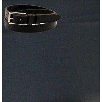Raymond Plain Black Trouser Fabric Free Belt