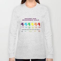 Unicorny Pain Measurement Scale Long Sleeve T-shirts