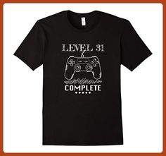 Mens Level 31 Complete Shirt. Video Game 31th Birthday Gifts Idea Small Black - Gamer shirts (*Partner-Link)