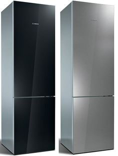 "Super Sleek New Bosch""Metal Behind Glass"" Refrigerator Bosch Appliances, Retro Appliances, Kitchen Appliances, Kitchens, Kitchen Ware, Stainless Appliances, Kitchen Gadgets, Stainless Steel, Compact Refrigerator"