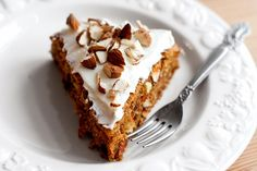 Photo about Healthy carrot cake with sour cream. Image of dish, dessert, food - 41326199 Diet Desserts, Diabetic Desserts, Sugar Free Desserts, Sugar Free Recipes, Sweet Recipes, Cake Recipes, Dessert Recipes, Dessert Food, Healthy Sour Cream