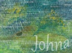 Forest Through The Trees by Johna Gibson Bowman. Abstract art