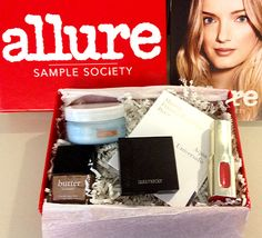 The New Allure Sample Society: Sneak Peek at the August Box!: Daily Beauty Reporter :  The new Sample Society boxes are out and the samplers have spoken: We are overwhelmed by the positive response to the new shiny red boxes and thrilled you are loving our editors' favorite summer essentials tucked inside. (That's the...