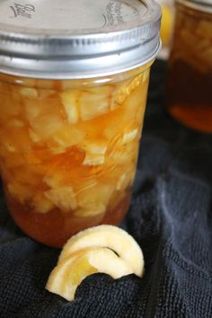 Apple Jam Recipe:    4 c chopped apples  2 c water  dash of lemon juice  1 t butter  one regular box of pectin  1 t cinnamon  1/4 t nutmeg  1/4 t ginger  4 c sugar  1 c packed brown sug