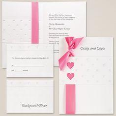 Sweet Hearts Wedding Invitation   Hearts Wedding Invitation