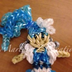 Wintery Frost Doll on the rainbow loom