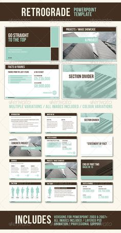 RetroGrade PowerPoint Template - Powerpoint Templates,,,z, Presentation Templates