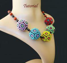 Beaded bead beading tutorial instructions  by PeyoteBeadArt, $4.95