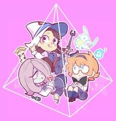 lwa charm i finished yesterday, pretend the pink is transparent
