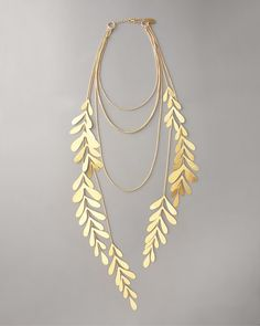 "Herve Van Der Straeten  Cascading Coral Necklace, 51""L  - Nothing gives your look more panache than statement jewelry"