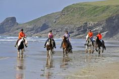 Explore the beautiful Welsh coastline on horse back. https://www.qualitycottages.co.uk/aroundwales/beach-riding-wales/