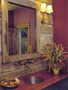 How's this for a rustic country bathroom sink?