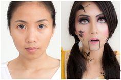 How to Broken Doll makeup แตงตัวเป็นตุ๊กตาผีต้อนรับฮาโลวีน