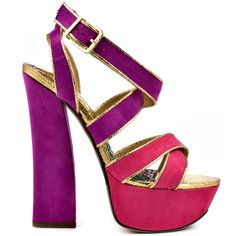 Too Sassy heels Fuchsia Purple brand heels 2 Lips Too