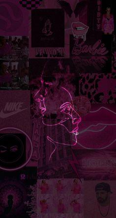 Badass Aesthetic, Pink Aesthetic, Aesthetic Iphone Wallpaper, Aesthetic Wallpapers, Black Wallpaper Iphone Dark, Anime Art Girl, Aesthetic Pictures, Wall Collage, Artsy
