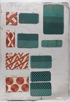 Textile Sample Book    Date:      1860s  Culture:      French Met Museum