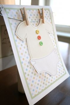 Free download of an adorable DIY baby shower card :)