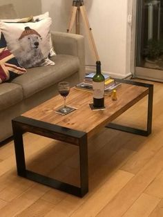 Welded Furniture, Iron Furniture, Steel Furniture, Industrial Furniture, Pallet Furniture, Home Furniture, Furniture Design, Vintage Industrial, Diy Coffee Table