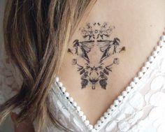 Temporary Tattoo with Chickadee Botanical Print par BurrowingHome, $8.00
