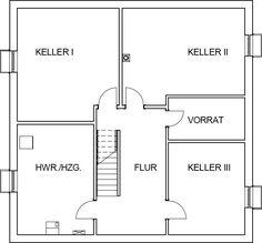Das Kellergeschoss der mediterranen Stadtvilla als Variante beim Bau mit einem Keller