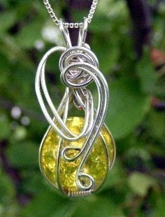 Interchangeable Wire Wrap Wrapped Fried Marble Pendant Jewelry Instructional Technique Tutorial DVD. $19.99, via Etsy.