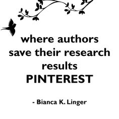 Pinterest for authors - quote where authors save their research results - Pinterest Pinterest für Autoren, Bianca K. Linger