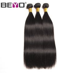 Beyo Hair Malaysian Straight Hair Bundles 100% Human Hair Weave Bundles Natural Black Color Non-Remy Hair 1 Piece Free Shipping