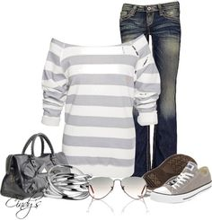 """""""Casual Day"""" by cindycook10 ❤ liked on Polyvore"""