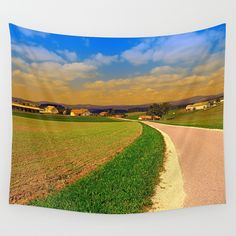 A road, a village and summer season II by patrickjobst on DeviantArt Wall Art Prints, Canvas Prints, Beautiful Roads, Metal Wall Art, Wall Tapestry, Landscape Photography, Summer, Country Roads, Seasons