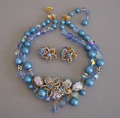 Demario NY 1960's necklace and earrings