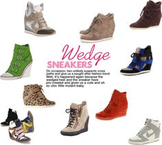 """Wedge Sneaker"" by ltretail on Polyvore"