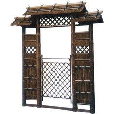 7ft. Japanese Style Zen Garden Gate - OrientalFurniture.com