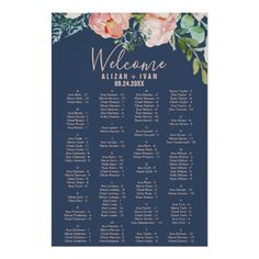 Make your big day even more special with wedding seating chart posters from Zazzle. Browse our amazing fully customizable designs for your seating chart today! The Wedding Date, Blue Wedding, Wedding Tips, Elegant Wedding, Wedding Table, Destination Wedding, Wedding Planning, Fall Wedding, Budget Wedding