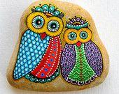 Hand Painted Stone Owls #isassidelladriatico