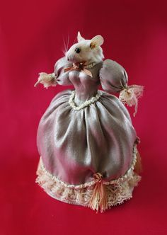 taxidermy Mouse Lady with wonderful victorian by FureverTaxidermy