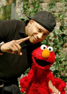 LL Cool J with Elmo...ANY celebrity that makes an appearance on Sesame Street is TOP NOTCH in my book!