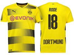 Borussia Dortmund #18 Sebastian Rode 17-18 Home Short Shirt