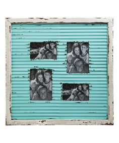 Look what I found on #zulily! Corrugate Metal Photo Frame #zulilyfinds