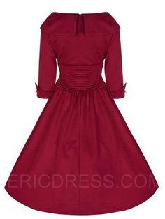 Ericdress Rockabilly Style Three-Quarter Sleeves Casual Dress 4