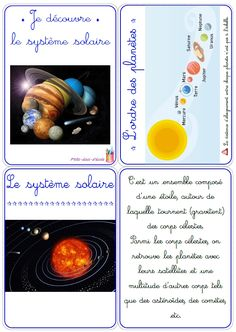 Un dossier complet pour découvrir les différentes planètes du système solaire avec des élèves de cycle 2 (CP-CE1) ou de cycle 3 (CE2-CM1). Teaching Activities, Teaching Science, Science For Kids, Teaching Kids, Kids Learning, Activities For Kids, Sistema Solar, School Teacher, Primary School