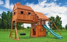 Eastern-Jungle-Gym-Wood-Swing-Set-with-Tree-House-4-Wood-Roof-Green-Slide.jpg (663×421)