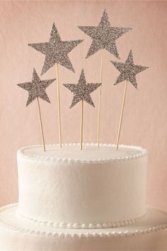 Glittery cake toppers http://rstyle.me/n/m4fkvnyg6