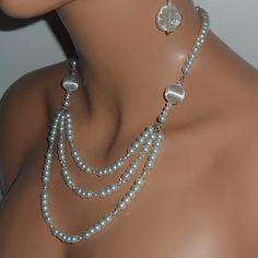 Boda collar de perlas blancas por mmanach en Etsy, $68.00