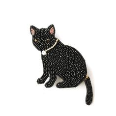 ~ Beaded Black Cat ~