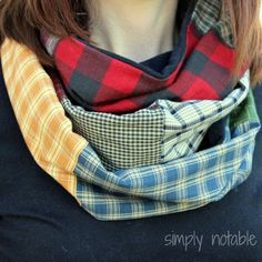 Use those orphan quilt blocks to make unique infinity scarf. You can finish one in less than an hour. Yes, please!